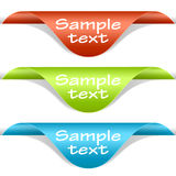 Set Of Multicolored Label Corners Royalty Free Stock Photo