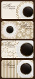 Set Of Nature Coffee Gift Cards Vector Stock Image