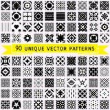 Set Of Ninety Vector Patterns Royalty Free Stock Image
