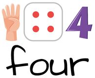 Free Set Of Number Four Symbol Stock Image - 130821541