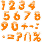 Set Of Numbers. Stock Photos