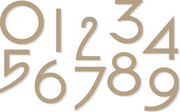 Set Of Numbers Separated On White Royalty Free Stock Photo