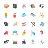 Set Of Objects Icons Royalty Free Stock Photography