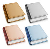 Set Of Old Books With Blank Covers Royalty Free Stock Photo