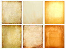 Set Of Old Grunge Paper Stock Images