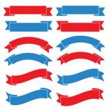 Set Of Old Ribbon Banner,Illustration Stock Image