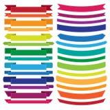 Set Of Old Ribbon Banner,Illustration Stock Images