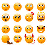 Set Of Orange Smiles Royalty Free Stock Photo
