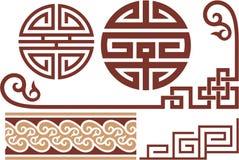 Set Of Oriental Design Elements Stock Image