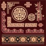 Set Of Oriental Pattern Elements Stock Image
