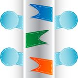 Set Of Origami Ribbons And Banners. Vector Label Stock Image