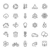 Set Of Outline Stroke Ecology Icon Stock Image