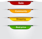 Set Of Paper Labels. Royalty Free Stock Photos