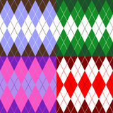 Set Of Patterns Wiyh Rhombuses Royalty Free Stock Images