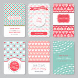 Set Of Perfect Wedding Templates With Pattern Stock Photos