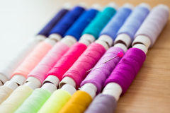 Set Of Pink Colorful Sewing Threads Royalty Free Stock Photo