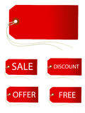 SET OF PRICE TAGS Royalty Free Stock Photo