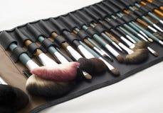 Set Of Professional Make Up Brushes Stock Photo