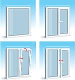 Set Of PVC Windows Royalty Free Stock Photography