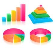 Set Of Rainbow Charts Royalty Free Stock Photos
