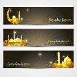 Set Of Ramadan Headers Royalty Free Stock Photo