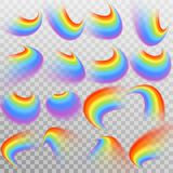 Set Of Realistic Colorful Rainbow. EPS 10 Vector