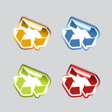 Set Of Recycle Icons. Royalty Free Stock Photography
