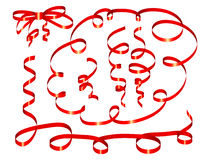 Set Of Red Ribbon Royalty Free Stock Photo