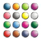 Set Of Retro 3D Buttons Vector