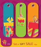 Set Of Retro Sale Gift Tags Royalty Free Stock Photography