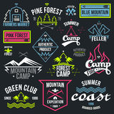 Set Of Retro Vintage Badges And Label Graphics Royalty Free Stock Photos