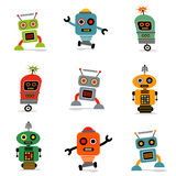 Set Of Robots 1 Royalty Free Stock Photography