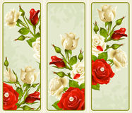 Free Set Of Rose Vertical Banners Royalty Free Stock Photo - 20908815