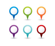 Set Of Round 3D Pointers Royalty Free Stock Photo