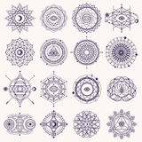 Set Of Sacred Geometry Signs Royalty Free Stock Image