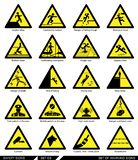 Set Of Safety Signs. Caution Signs. Royalty Free Stock Image
