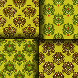 Set Of Seamless For Wrap And Wallpaper Stock Photo