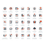 Set Of SEO And Marketing Icons Royalty Free Stock Photo