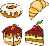 Set Of Sinful Looking Desserts Stock Photo