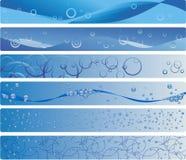 Set Of Six Blue Aqua Banners Royalty Free Stock Photography