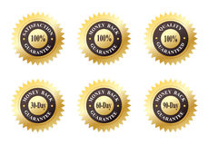 Free Set Of Six Gold Seals Stock Images - 10737834