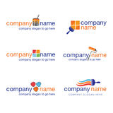 Set Of Six Painter And Decorator Logos (vector) Royalty Free Stock Images