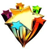 Set Of Six Stars In The Upward Motion Royalty Free Stock Photo