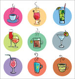 Set Of Sketchy Drinks Stock Image