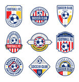 Set Of Soccer Football Club Logo Stock Image