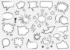 Free Set Of Speech Bubbles. Set Of Blank Template In Pop Art Style. Vector Illustration Royalty Free Stock Photo - 112616795