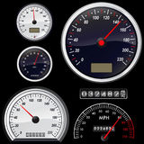 Set Of Speedometer Vector Stock Photo