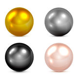 Set Of Spheres Royalty Free Stock Photo