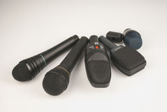 Free Set Of Stage Microphones Royalty Free Stock Photography - 46854107