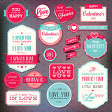 Set Of Stickers And Badges For Valentine`s Day Royalty Free Stock Photography